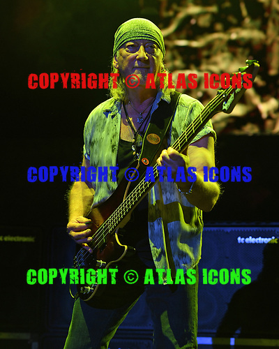 WANTAGH NY- AUGUST 26: Roger Glover of Deep Purple performs at the Jones Beach Theater on August 26, 2017 in Wantagh New York. Photo by Larry Marano © 2017