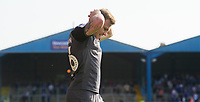 Lincoln City's Harry Anderson reacts during the second half<br /> <br /> Photographer Chris Vaughan/CameraSport<br /> <br /> The EFL Sky Bet League Two - Carlisle United v Lincoln City - Friday 19th April 2019 - Brunton Park - Carlisle<br /> <br /> World Copyright © 2019 CameraSport. All rights reserved. 43 Linden Ave. Countesthorpe. Leicester. England. LE8 5PG - Tel: +44 (0) 116 277 4147 - admin@camerasport.com - www.camerasport.com
