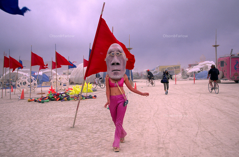 Elaborate, colorful and clever costumes of self-expression are part of the annual Burning Man Festival held at Black Rock Playa in northwestern Nevada's Conservation area. For the week of Burning Man, the desert becomes one of Nevada's largest cities, attracting tens of thousand of revelers.