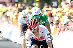 Jasper Stuyven (BEL) Trek-Segafredo 3rd place at the end of Stage 3 of the 2019 Tour de France running 215km from Binche, Belgium to Epernay, France. 8th July 2019.<br /> Picture: Colin Flockton | Cyclefile<br /> All photos usage must carry mandatory copyright credit (© Cyclefile | Colin Flockton)