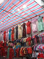 Traditional Chinese-style dresses at Ladies Market, Hong Kong