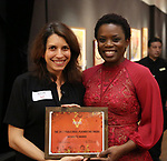 Sarah Stern and Antoinette Nwandu attends The Vineyard Theatre's Emerging Artists Luncheon at The National Arts Club on November 9, 2017 in New York City.