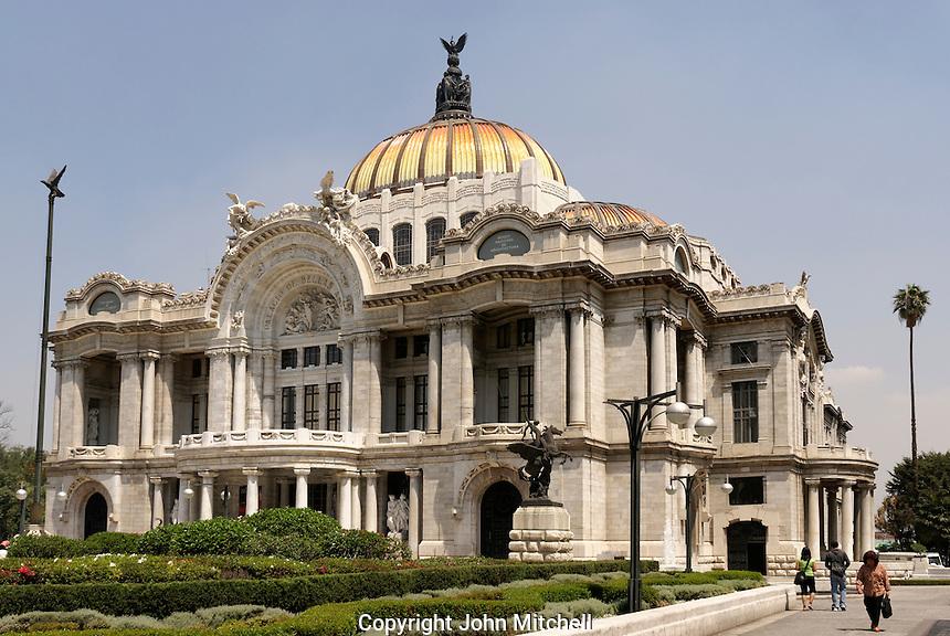The Art Nouveau and Art Deco Palacio de Bellas Artes or Palace of Fine Arts in Mexico City, Mexico