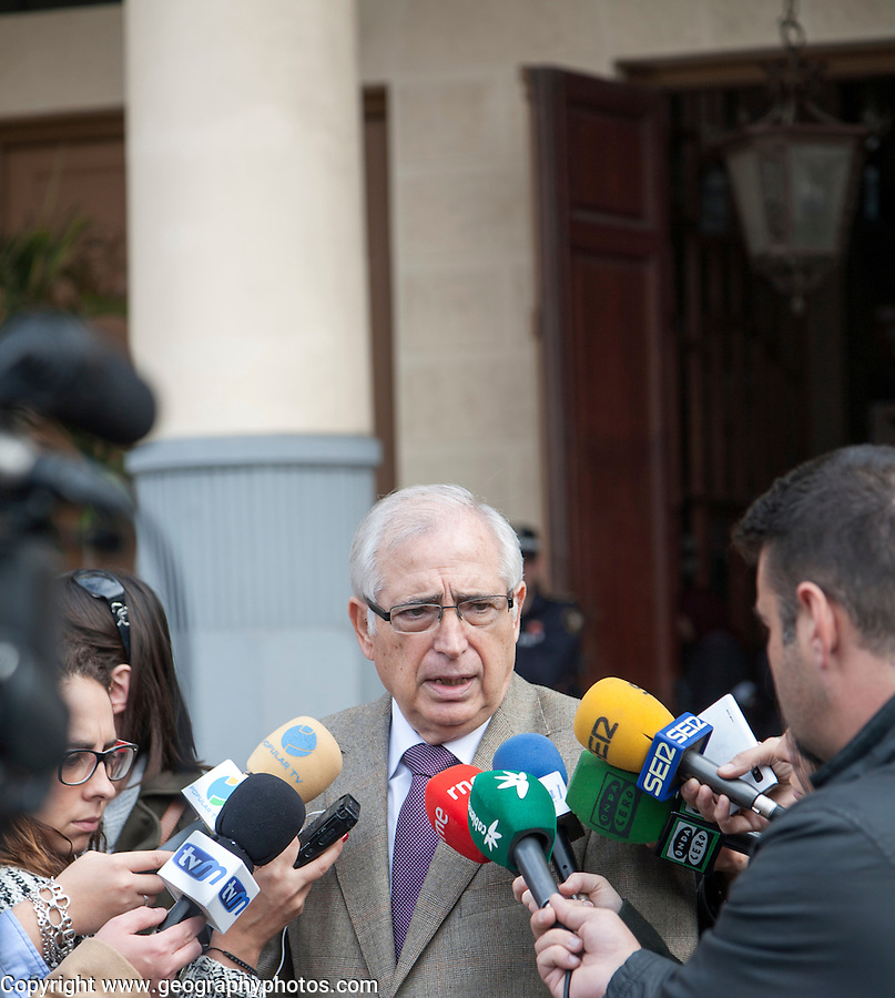 Melilla, Spain 12th January 2015, Juan José Imbroda Ortiz president of the autonomous city state of Melilla, a Spanish exclave in north Africa, giving a press interview