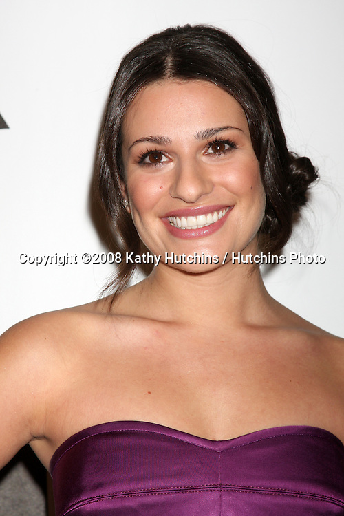 Lea Michele arriving at the Fox TV TCA Party at MY PLACE  in Los Angeles, CA on .January 13, 2009.©2008 Kathy Hutchins / Hutchins Photo..                .