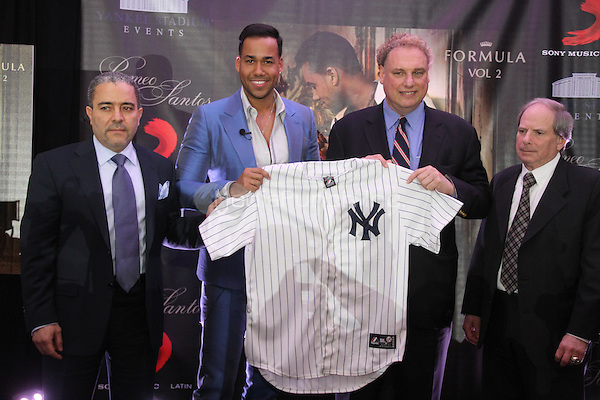 NEW YORK, NY - FEBRUARY 24, 2014<br /> Romeo Santos announces his album release &amp; concert February 24, 2014 at Yankee Stadium in Bronx, New York Walik Goshorn / Mediapunch