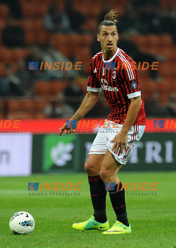 "Zlatan IBRAHIMOVIC (Milan).Milano 26/10/2011 Stadio ""Giuseppe Meazza"".Serie A 2011/2012.Football Calcio Milan Vs Parma.Foto Insidefoto Alessandro Sabattini."