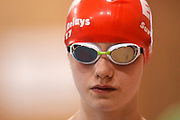Picture by Richard Blaxall/SWpix.com - 14/04/2018 - Swimming - EFDS National Junior Para Swimming Champs - The Quays, Southampton, England - Madeleine Harris prepares for the Women's Open 100m Freestyle