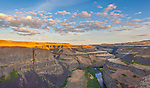Palouse Falls State Park, WA: Evening sky over the canyons of the Palouse River