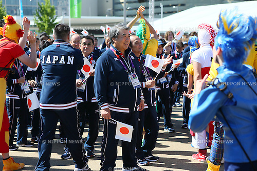 Japan Delegation (JPN), .JULY 24, 2012 - Olympic : .Team Welcoming Ceremony for the Japanese delegation .during the London 2012 Olympic Games .at Athlete's Village, in London, UK. .(Photo by YUTAKA/AFLO SPORT)