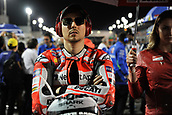 18th March 2018, Losail International Circuit, Lusail, Qatar; Qatar Motorcycle Grand Prix, Sunday race day; Jorge Lorenzo (Ducati) waits on the grid