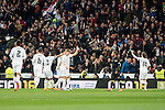 Real Madrid's players celebrating a goal during La Liga match. March 20,2016. (ALTERPHOTOS/Borja B.Hojas)
