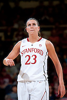 STANFORD, CA - January 22, 2011: Jeanette Pohlen of the Stanford women's basketball team during their game against USC at Maples Pavilion. Stanford beat USC 95-51.