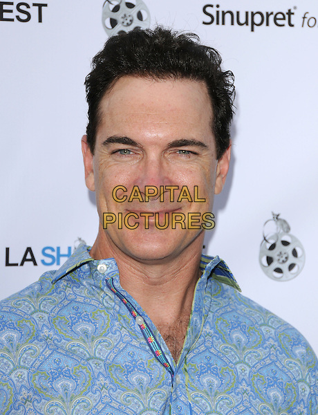 PATRICK WARBURTON.Opening Night of LA Shorts Fest at Laemmle Sunset 5 Theatres in West Hollywood, California, USA. .July 23rd, 2009 .headshot portrait blue pattern.CAP/DVS.©Debbie VanStory/Capital Pictures.