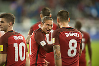 San Jose, Ca - Friday March 24, 2017: Alejandro Bedoya Clint Dempsey during the USA Men's National Team defeat of Honduras 6-0 during their 2018 FIFA World Cup Qualifying Hexagonal match at Avaya Stadium.