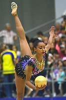 BARRANQUILLA - COLOMBIA, 30-07-2018:Brenda Leyva (CUB) ,en  gimnasia rítmica .Juegos Centroamericanos y del Caribe Barranquilla 2018. /Brenda Leyva (CUB)rhythmic gymnastics of the Central American and Caribbean Sports Games Barranquilla 2018. Photo: VizzorImage /  Alfonso Cervantes /Contribuidor