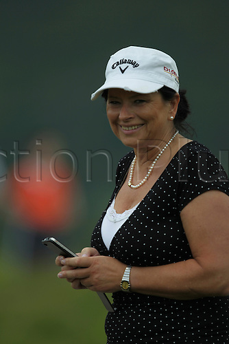2011.06.04. SAAB Welsh Open Golf from Celtic Manor Twenty Ten Course South Wales. Mother of Marcel Siem (GER) delighted by his birdie putt on 12