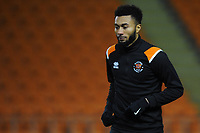 Blackpool's Grant Ward during the pre-match warm-up <br /> <br /> Photographer Kevin Barnes/CameraSport<br /> <br /> The EFL Sky Bet League One - Blackpool v Gillingham - Tuesday 11th February 2020 - Bloomfield Road - Blackpool<br /> <br /> World Copyright © 2020 CameraSport. All rights reserved. 43 Linden Ave. Countesthorpe. Leicester. England. LE8 5PG - Tel: +44 (0) 116 277 4147 - admin@camerasport.com - www.camerasport.com