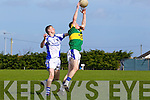 Danny Carroll of Tralee CBS beats Aidan McGuane of St Flannan's in the Frewen Cup Final  held last Wednesday in Croagh, Co. Limerick.