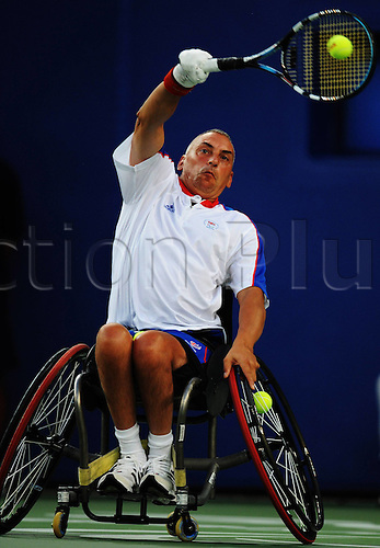12.09.2008 Beijing, China. Peter Norfolk UK. disabled tennis player. Paralympics 2008 Summer Games Summer Games