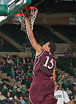 Louisiana Monroe Warhawks center Steven McClellan (15) in action during the game between the Louisiana Monroe Warhawks and the University of North Texas Mean Green at the North Texas Coliseum,the Super Pit, in Denton, Texas. UNT defeats ULM 86 to 51...