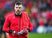 Lincoln City's Matt Gilks during the pre-match warm-up<br /> <br /> Photographer Andrew Vaughan/CameraSport<br /> <br /> The EFL Sky Bet League Two - Lincoln City v Macclesfield Town - Saturday 30th March 2019 - Sincil Bank - Lincoln<br /> <br /> World Copyright © 2019 CameraSport. All rights reserved. 43 Linden Ave. Countesthorpe. Leicester. England. LE8 5PG - Tel: +44 (0) 116 277 4147 - admin@camerasport.com - www.camerasport.com