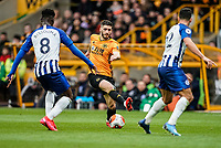 7th March 2020; Molineux Stadium, Wolverhampton, West Midlands, England; English Premier League, Wolverhampton Wanderers versus Brighton and Hove Albion; Rúben Vinagre of Wolverhampton Wanderers steps over the ball trying to create space to shoot