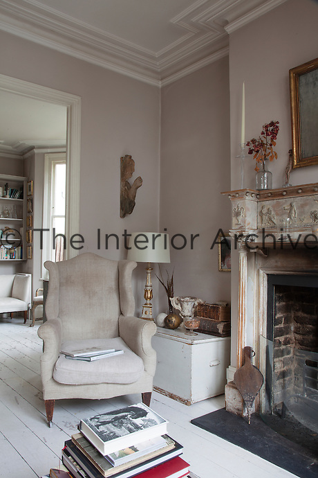 Despite the care that has gone into creating her elegant home, Ryan retains an unprecious attitude towards its contents; being a family home, she embraces the wear and tare which enhances the antique patina of the furniture and floors