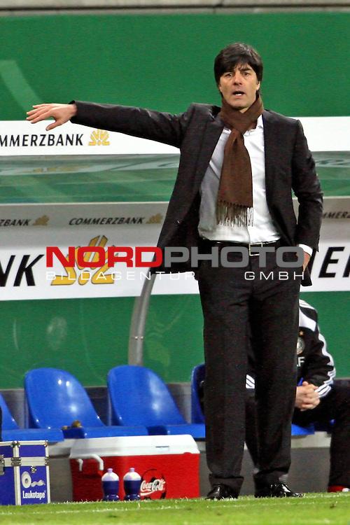 L&permil;nderspiel<br /> WM 2010 Qualifikatonsspiel Qualificationmatch Leipzig 28.03.2009 Zentralstadion Gruppe 4 Group Four <br /> <br /> Deutschland ( GER ) - Liechtenstein ( LIS )<br /> <br /> Joachim L&circ;w (GER Loew Trainer / Coach der Deutschen Nationalmannschaft).<br /> <br /> Foto &copy; nph (  nordphoto  )<br />  *** Local Caption ***
