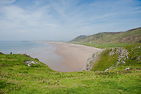 Thursday  19  June  2014<br /> <br /> Pictured: Views of Rhossili, Gower, Swansea, Wales UK <br /> Re:  Views of the Gower