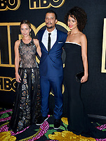 LOS ANGELES, CA. September 17, 2018: Emilia Clarke, Jacob Anderson & Nathalie Emmanuel at The HBO Emmy Party at the Pacific Design Centre.<br /> Picture: Paul Smith/Featureflash