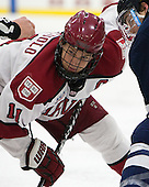 Kyle Criscuolo (Harvard - 11), Carson Cooper (Yale - 9) - The visiting Yale University Bulldogs defeated the Harvard University Crimson 2-1 (EN) on Saturday, November 15, 2014, at Bright-Landry Hockey Center in Cambridge, Massachusetts.
