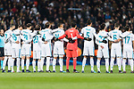 Real Madrid squad getting into the field during the Europe Champions League 2017-18 match between Real Madrid and Borussia Dortmund at Santiago Bernabeu Stadium on 06 December 2017 in Madrid Spain. Photo by Diego Gonzalez / Power Sport Images