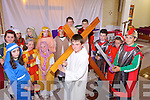 THE LORD'S PASSION: Pupils from Faha national school and the Nagle-Rice school in Milltown preparing to re-enact Jesus's Walk of Love at the Sacred Heart Church in Milltown on Good Friday.