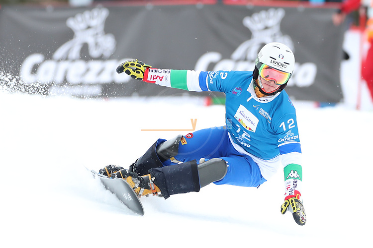 Parallel Slalom event of the FIS Snowboard World Cup on 19/12/2019 in Carezza, Italy.