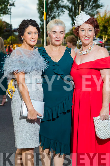 Mary Kelliher and Evelyn King (Killorglin) and Eileen Kennedy (Caragh Lake) at the Rose of Tralee fashion show at the dome on Sunday night.