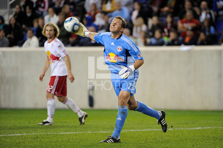 New York Red Bulls goalkeeper Frank Rost (1). The New York Red Bulls defeated the Los Angeles Galaxy 2-0 during a Major League Soccer (MLS) match at Red Bull Arena in Harrison, NJ, on October 4, 2011.