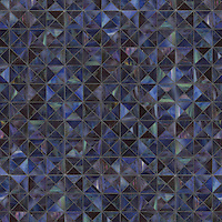 Christopher G1, a waterjet jewel glass mosaic, shown in Amethyst, is part of the Illusions™ Collection by Sara Baldwin for New Ravenna.