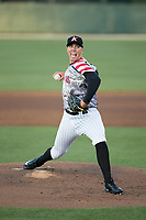 Kannapolis Intimidators starting pitcher Alec Hansen (30) in action against the Lakewood BlueClaws at Kannapolis Intimidators Stadium on April 7, 2017 in Kannapolis, North Carolina.  The BlueClaws defeated the Intimidators 6-4.  (Brian Westerholt/Four Seam Images)