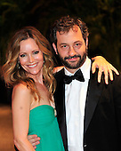 Leslie Mann and Judd Apatow arrive at the Washington Hilton Hotel for the 2010 White House Correspondents Association Annual Dinner in Washington, D.C. on Saturday, May 1, 2010..Credit: Ron Sachs / CNP.(RESTRICTION: NO New York or New Jersey Newspapers or newspapers within a 75 mile radius of New York City)