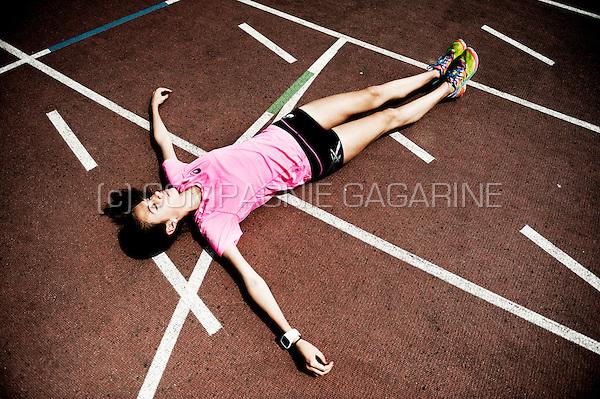 Belgian athlete Cameron Vandenbroucke, daughter of former cyclist Frank Vandenbroucke (Belgium, 16/07/2015)