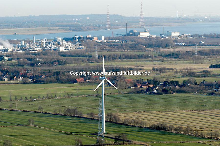 Deutschland, Niedersachsen, Stade, Windkraftanlage, AKW Stade, AKW, Elbe