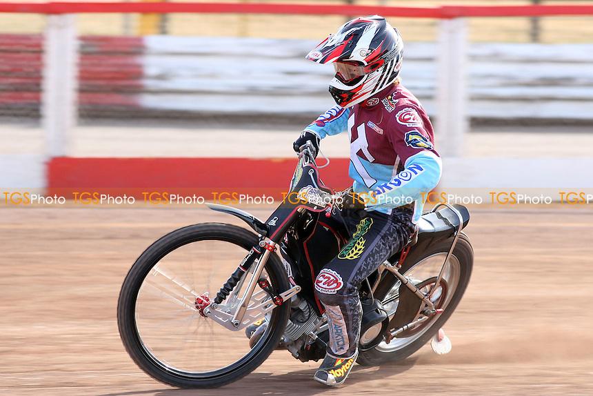 Adam Shields of Lakeside Hammers rides during practice - Lakeside Hammers Press & Practice Day at Arena Essex Raceway -  17/03/09 - MANDATORY CREDIT: Gavin Ellis/TGSPHOTO - Self billing applies where appropriate - Tel: 0845 094 6026