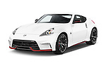 2015 Nissan 370Z NISMO 2 Door Coupe Angular Front stock photos of front three quarter view