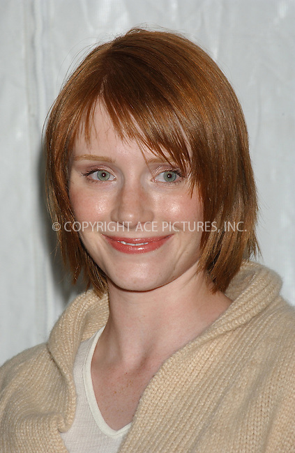 WWW.ACEPIXS.COM . . . . . ....NEW YORK, DECEMBER 9, 2004....Bryce Dallas Howard at the NYC premiere of 'The Life Aquatic with Steve Zissou' at the Ziegfeld Theater. ....Please byline: ACE006 - ACE PICTURES.. . . . . . ..Ace Pictures, Inc:  ..Alecsey Boldeskul (646) 267-6913 ..Philip Vaughan (646) 769-0430..e-mail: info@acepixs.com..web: http://www.acepixs.com