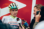 Guillaume Martin (FRA) Wanty-Gobert interviewed at the end of Stage 15 of the 2019 Tour de France running 185km from Limoux to Foix Prat d'Albis, France. 20th July 2019.<br /> Picture: ASO/Thomas Maheux | Cyclefile<br /> All photos usage must carry mandatory copyright credit (© Cyclefile | ASO/Thomas Maheux)