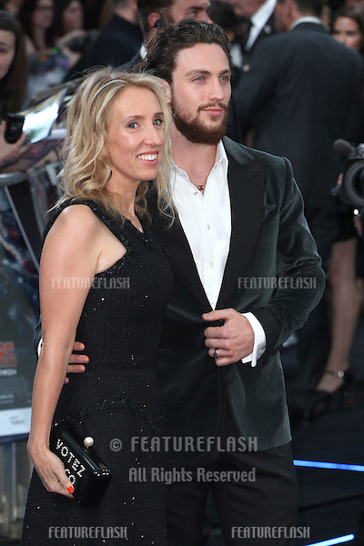 Sam Taylor-Johnson and Aaron Taylor-Johnson arriving for the Avengers: Age Of Ultron premiere, at Westfield Shepherd's Bush, London. 21/04/2015 Picture by: Alexandra Glen / Featureflash