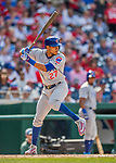 29 June 2017: Chicago Cubs infielder Addison Russell in action against the Washington Nationals at Nationals Park in Washington, DC. The Cubs rallied to defeat the Nationals 5-4 and split their 4-game series. Mandatory Credit: Ed Wolfstein Photo *** RAW (NEF) Image File Available ***