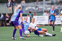 Allston, MA - Sunday July 31, 2016: Kristen Edmonds, Stephanie Verdoia during a regular season National Women's Soccer League (NWSL) match between the Boston Breakers and the Orlando Pride at Jordan Field.