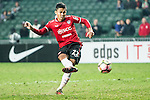 Mongkol Thosakrai of Muangthong United scores by penalty during the 2017 Lunar New Year Cup match between SC Kitchee (HKG) vs Muangthong United (THA) on January 28, 2017 in Hong Kong, Hong Kong. Photo by Marcio Rodrigo Machado/Power Sport Images